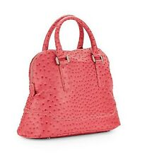 Ivanka Trump Ava Dome Ostrich-Embossed Faux Leather Satchel