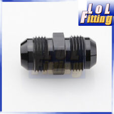 6 AN -6 to AN6 Aluminium Straight Male Flare Union Fitting Adapter Black