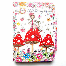 Flower & Fairy Diary 2017 pocket size magnetic Closure Stocking Filler Xmas Gift