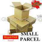 """4"""" CUBE S/W CARDBOARD POSTAL BOXES - ROYAL MAIL SMALL PARCEL SIZE - 4x4x4"""""""
