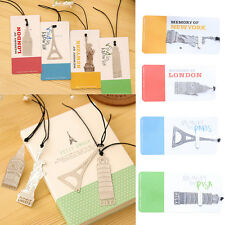 New 4 Types Metal Travel Architecture Marker Tag Bookmarks 4pcs/set