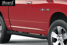 "4"" Black Running Boards Fit 09-16 Dodge Ram 1500 10-16 Ram 2500/3500 Crew Cab"