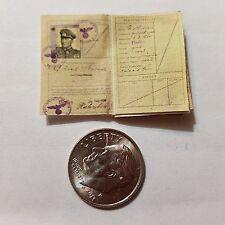 Miniature Playscale Passport GI Joe action Figure War Criminal Nazi  SS Officer