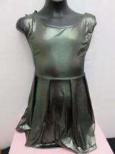 Dance Costume Small Adult Metallic Tank Dress Modern Jazz Tap Solo Competition
