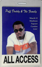 PUFF DADDY - LAMINATED BACKSTAGE PASS - ALL ACCESS - NYC - P. DIDDY - SEAN COMBS
