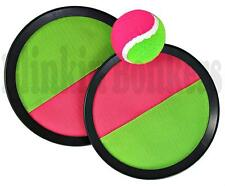VELCRO HAND BALL GAME PAD STRAP THROW CATCH OUTDOOR GARDEN BEACH SUMMER SET 39D