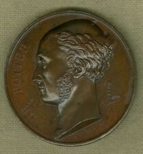 1830 Belgium Medal Issued to Honor De Potter of Bruges, Engraved by Veyrat