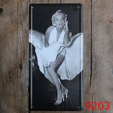 Metal Tin Sign car plate marilyn monroe Bar Pub Vintage Retro Poster Cafe ART