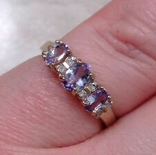 Antique Diamond & Amethyst Ring In 9k Yellow Gold from the U.K.