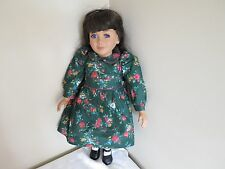 "MY TWINN Catherine 23"" Doll Purple Eyes White Green Floral Dress Shoes Tights"