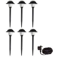 Malibu Low Voltage 6 Piece LED Plastic Tier-Light Kit Black 8401-2990-06