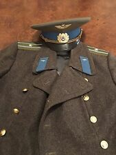 Authentic Soviet-Russian-USSR Military Air Force Overcoat And Hat. Nice!