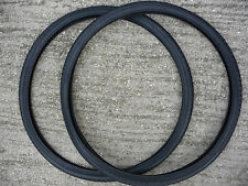 PAIR 26 x 1 3/8 Bike Cycle Road Tyres Black Urban Dutch Bicycle Vintage