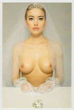 Postcard Pinup Sexy Girl Topless Breast Nude Beauty Japan Bride Post Card 7252