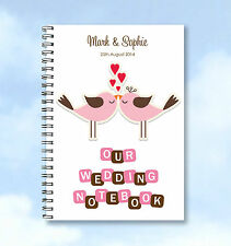 Personalised Notebook Wedding Planning or guestbook A5 Add any name or text