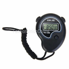 Stopwatch Counter Timer Stop Watch Clock Chrono Laps 1/100 Second w/ Battery