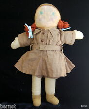"GIRL SCOUT BROWNIE 1940s GEORGENE NOVELTIES 14"" CLOTH DOLL - ESTATE LIQUIDATION"