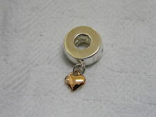 Clogau Sterling Silver & Welsh Gold Cariad Heart Bead Charm RRP £139.00