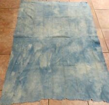 Vintage Dogon Indigo Dyed Fabric/Hand Woven Cotton Strips/Acid Washed Look/40x54