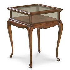CHELMSFORD CURIO TABLE - GLASS TOP DISPLAY TABLE - CHERRY - FREE SHIPPING*