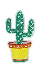 Mexican Cactus Iron on Sew on Embroidered Patch Motif  For Clothing Applique