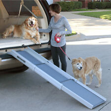 Pet Ramps For Large Dogs Stairs Car Suv Truck Folding Portable Telescopic New