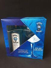 Bombay Sapphire Gin Set + Ballon Glas 0,7 L Litre Flasche 40%Vol. Geschenkset