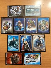 11 FIGURINE ADESIVE AVENGERS personaggi  PANINI MARVEL lot 73