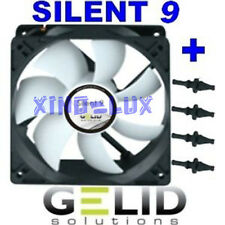 VENTILATORE per CASE PC 92mm GELID SILENT 9 FAN 90 x 90x25 +GOMMINI 1500rpm 12V