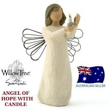 Willow Tree ANGEL OF HOPE WITH CANDLE Figurine By Susan Lordi By Demdo NEW