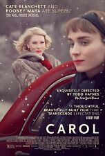Carol Movie Poster (24x36) - Kate Blanchett, Rooney Mara, Sarah Paulson v2