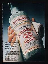 3w582/ Alte Reklame - von 1978 - MALTESERKREUZ Aquavit