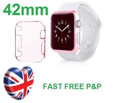 Baby Pink Slim Hard Snap On Case Cover Screen Protector Apple Watch iWatch 42MM