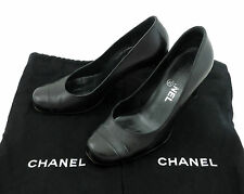 Chanel Pumps 36,5 Schuhe schwarz high heels Stiletto shoes  sehr gut