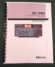 ICOM IC-701 Instruction Manual: Card Stock Covers with schematics & 32lb Paper!