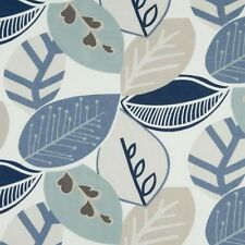 Clarke and Clarke Malena Mineral Leaf Design Curtain Upholstery Craft Fabric
