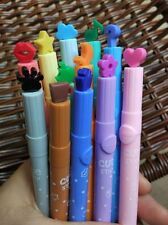 6 Packs Stamp Markers DIY Watercolor Pen for School Supplies New Mix Color