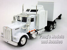Kenworth W900 White Trailer Truck 1/43 Scale Diecast Metal Model by NewRay