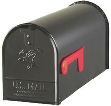 NEW SOLAR USA E1100B00 BLACK HEAVY DUTY METAL STANDARD RURAL MAILBOX 0143321
