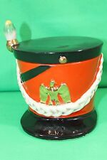 Maruhon Ware Made in Japan Marching Band Top Hat Planter Storage with Lid