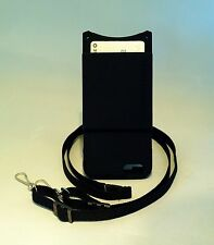 iPhone 6 6s case BLACK with Credit Card Pocket & Adjustable Detachable Lanyard