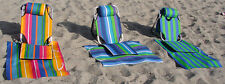 2 x Portable Beach Chair Lightweight Aluminum 1.5 lbs low on sand lounger mat/po