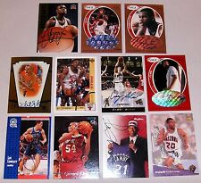 Autographed Lot Basketball Cards Camby Stoudamire Cartwright Longley Walker +