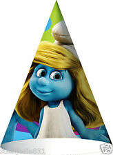Smurfs Movie Cone Hats 8ct Party Favors Supplies