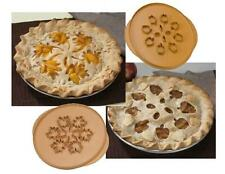 "Nordicware REVERSIBLE PIE CRUST TOP CUTTER 14"" Intricate APPLES & LEAVES Cut Out"