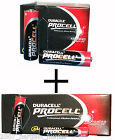 100   50 AA + 50 AAA DURACELL PROCELL INDUSTRIAL PROFESSIONAL ALKALINE BATTERY