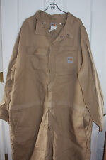 Carhartt FR Fire Resistant Coveralls 52 Regular Tan Khaki ATPV Rating 13.7
