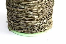 15ft Brass 2x2mm Flat link twist Cable Chain links 1-3 day Shipping