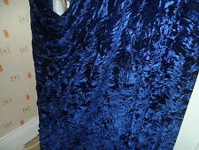 4 MTR QUALITY NAVY BLUE ICE CRUSHED VELVET FABRIC..58 INCHES WIDE