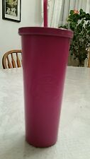Starbucks 24oz Magenta/Pink Stainless Steel Cold Cup.